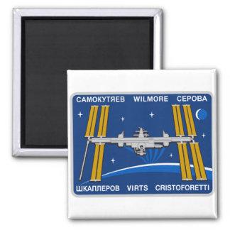Equipos del ISS:  Expedición 42 Imán Cuadrado