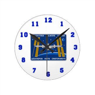 Equipos del ISS:  Expedición 42 Reloj Redondo Mediano