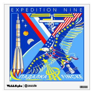 Equipos del ISS:  Expedición 9 Vinilo Adhesivo