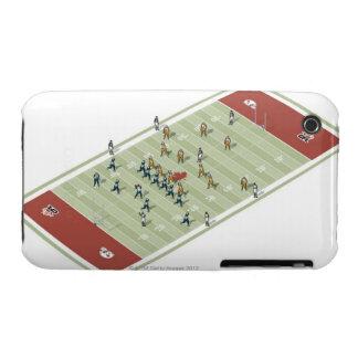 Equipos en campo de fútbol canadiense iPhone 3 Case-Mate fundas