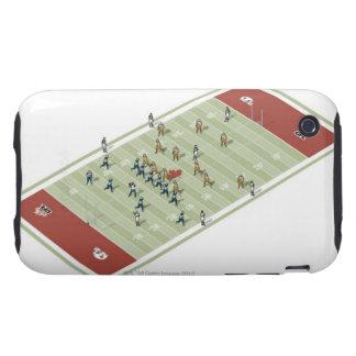 Equipos en campo de fútbol canadiense tough iPhone 3 coberturas
