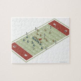 Equipos en campo de fútbol canadiense puzzles con fotos
