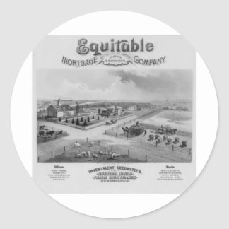Equitable Mortgage Co. 1888 Classic Round Sticker