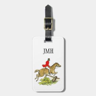 Equitación de encargo del cazador del puente de la etiqueta de equipaje