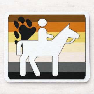 Equitación del orgullo del oso de GLBT Tapetes De Ratón