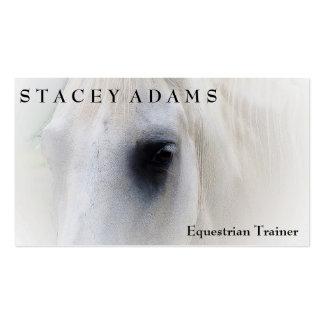 Equitación ecuestre del instructor de la granja de plantillas de tarjeta de negocio