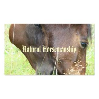 Equitación natural plantillas de tarjeta de negocio