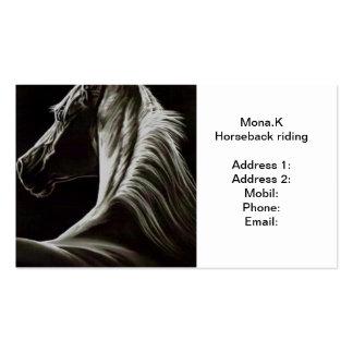 equitación tarjetas de visita