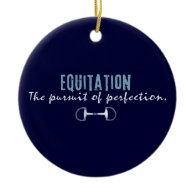 equitation christmas tree ornament