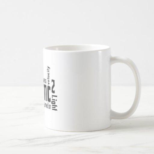 Equivalencia total de la ciencia metálica fresca taza de café