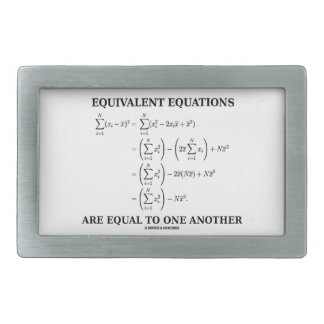 Equivalent Equations Are Equal To One Another Rectangular Belt Buckles