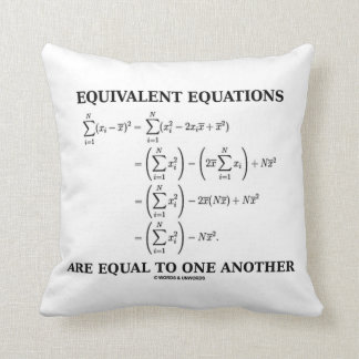 Equivalent Equations Are Equal To One Another Throw Pillow