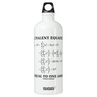 Equivalent Equations Are Equal To One Another Water Bottle