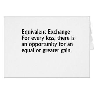Equivalent Exchange Card