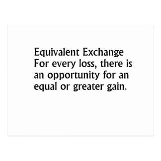 Equivalent Exchange Postcard