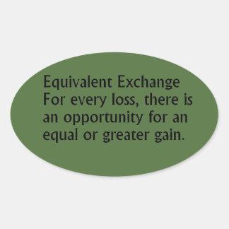 Equivalent Exchange Oval Sticker