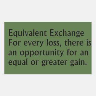 Equivalent Exchange Rectangular Sticker