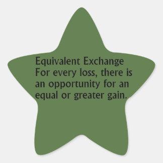 Equivalent Exchange Star Sticker