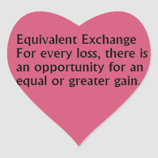 Equivalent Exchange Heart Sticker