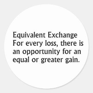Equivalent Exchange Classic Round Sticker