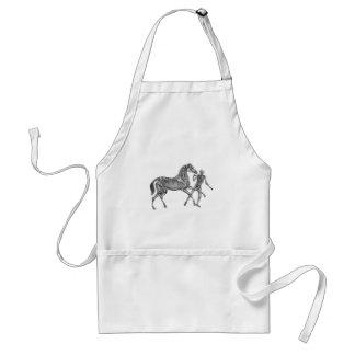 Equus del Equus: Caballo esquelético en el juego Delantal