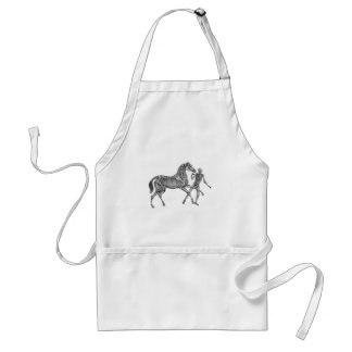 Equus Equus: Skeleton Horse At Play Adult Apron