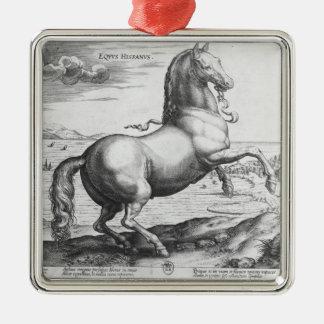 Equus Hispanus Adorno Cuadrado Plateado