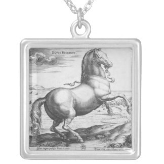 Equus Hispanus Silver Plated Necklace
