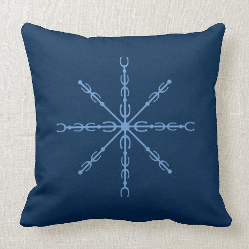 Throw Pillows 20 X 20 : Equus Snowflake #1 Throw Pillow 20