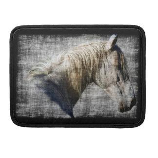 Equus White Horse Portrait Art Mac Book Sleeve