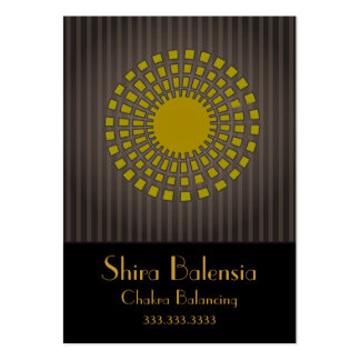 Eqyptian Sunburst With Stripes Business Card
