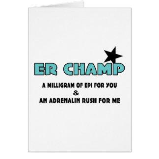 ER Champ Card