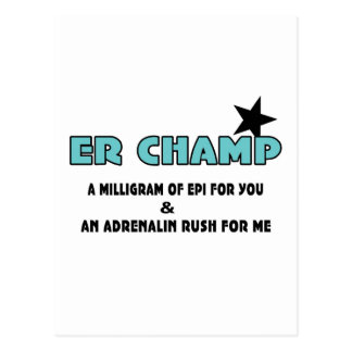 ER Champ Post Cards