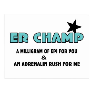 ER Champ Postcards