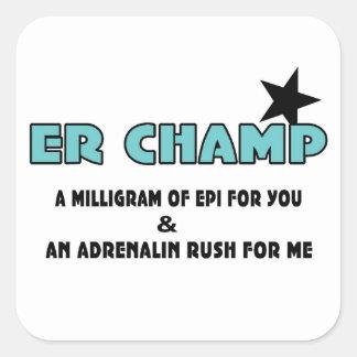 ER Champ Square Stickers