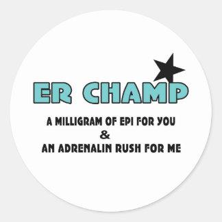 ER Champ Stickers