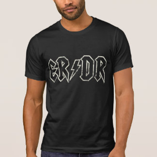 ER/DR Distressed Stroke on Black T-Shirt