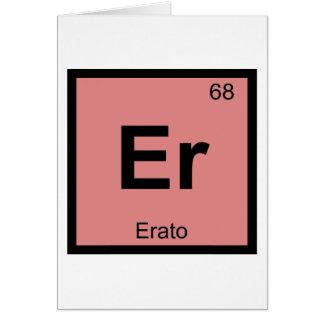 Er - Erato Muse Chemistry Periodic Table Symbol Card