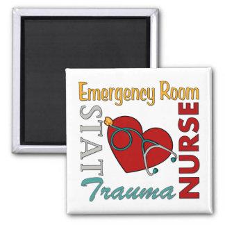 ER Nurse 2 Inch Square Magnet