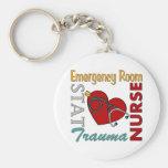 ER Nurse Basic Round Button Keychain
