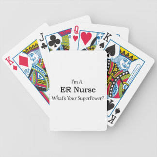 ER Nurse Bicycle Playing Cards