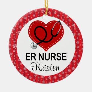ER Nurse Christmas Personalized Ornament