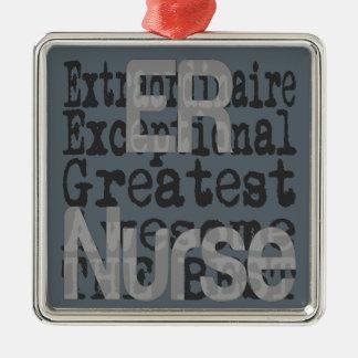 ER Nurse Extraordinaire Metal Ornament