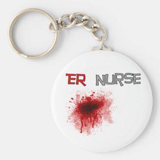 ER  Nurse Funny T-Shirts & Gifts Basic Round Button Keychain