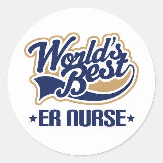 Er nurse Gift Classic Round Sticker