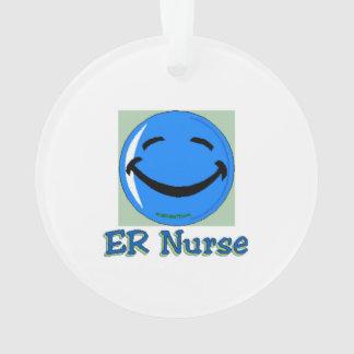 ER Nurse Happy Face Ornament