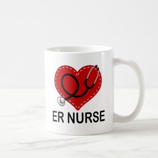 Er Nurse Heart Stethoscope Coffee Mug