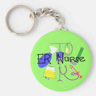 ER Nurse Medical Equipment Design Basic Round Button Keychain