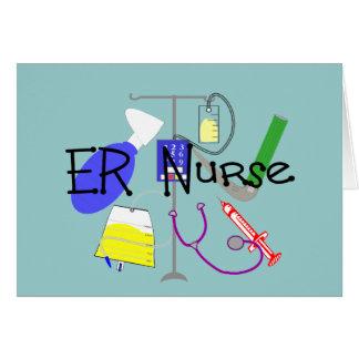 ER Nurse Medical Equipment Design Greeting Cards
