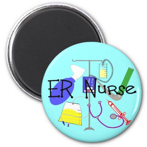 ER Nurse Medical Equipment Design Fridge Magnets
